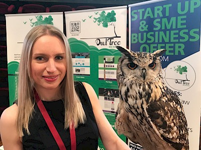 OwlTree at The Big Bolton Expo with Nugget our owl