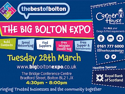 Big Bolton Expo promotion card