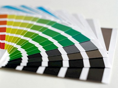 Colour charts for branding